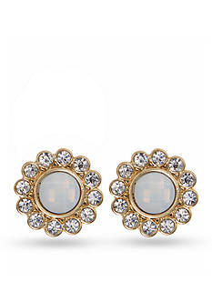 Lonna & Lilly Gold-Tone Crystal Halo Button Earrings