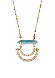 Lonna & Lilly Gold-Tone Turquoise Pendant Necklace