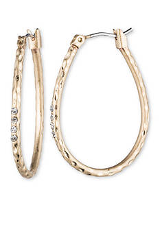Lonna & Lilly Gold-Tone Crystal Hoop Earrings