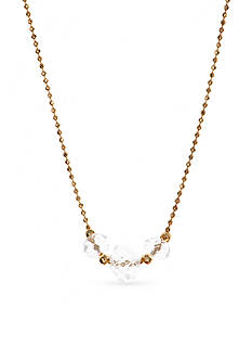 Lonna & Lilly Gold-Tone Beaded Chain Crystal Pendant Necklace