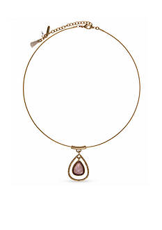 Lonna & Lilly Gold-Tone Open Teardrop Crystal Collar Necklace