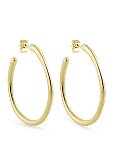 Karen Kane Acacia High Polished Gold-Tone Hoop Earrings