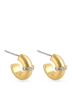 Karen Kane Gold-Tone Huggie Hoop Earrings