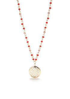 Chaps Gold-Tone Grace Bay Pendant Necklace