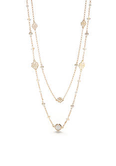 Chaps Gold-Tone Grace Bay Multistrand Necklace