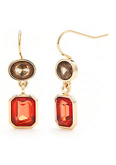Chaps Gold-Tone Double Drop Earrings