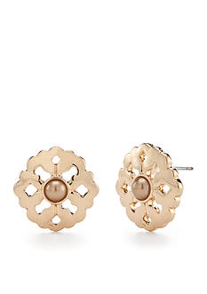 Chaps Park Slope Button Earrings