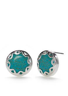 Chaps Sultan Garden Button Earrings
