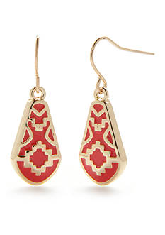 Chaps Bluffton Nights Teardrop Earrings