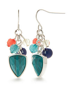 Chaps Bluffton Nights Cluster Drop Earrings