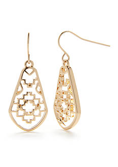 Chaps Bluffton Nights Filigree Drop Earrings