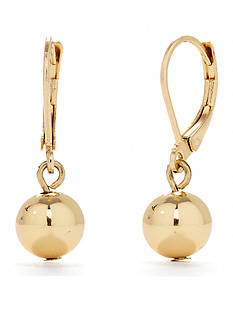 Chaps Ball Leverback Earrings