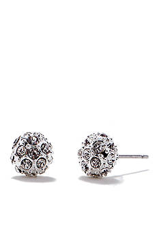 Chaps Silver-Tone Stud Earrings
