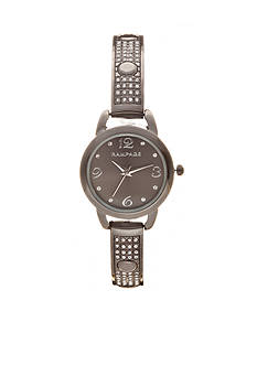 Rampage Women's Gunmetal Bangle Bracelet Watch