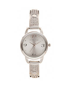 Rampage Women's Silver-Tone Bangle Bracelet Watch