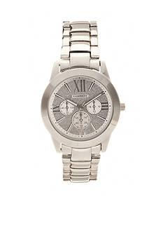 Rampage Women's Silver-Tone Glitter Watch