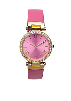 Rampage Women's Gold-Tone and Pink Watch