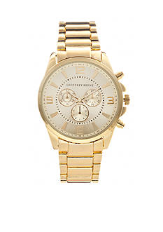 Geoffrey Beene Men's Gold-Tone Bracelet Watch