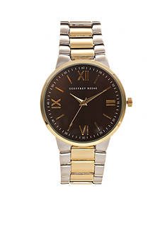 Geoffrey Beene Men's Two-Tone Bracelet Watch