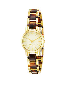 kate spade new york Two-Tone Tortoise Gramercy Mini Watch