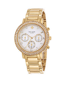 kate spade new york Pave Multi Function Gramercy Grand Watch