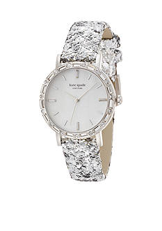 kate spade new york Women's Pave Interchangeable Metro Ski Watch