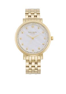 kate spade new york Women's Gold-Tone Stainless Steel Monterey Three-Hand Glitz Watch