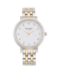 kate spade new york Women's Two-Tone Stainless Steel Monterey Three-Hand Glitz Watch