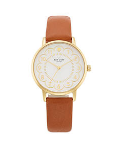kate spade new york Brown Leather Metro Three-Hand Watch