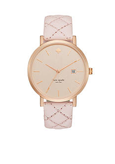 kate spade new york Women's Metro Quilted Pink Watch