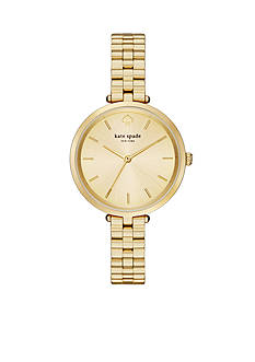 kate spade new york Women's Holland Gold-Tone Stainless Steel Watch