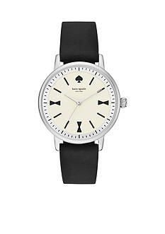kate spade new york Women's Crosby Black Silicone Strap 3-Hand Watch