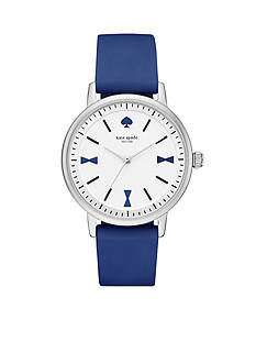 kate spade new york Women's Crosby Blue Silicone Strap 3-Hand Watch