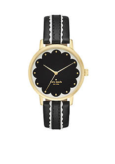 kate spade new york Metro Scalloped Black Three-Hand Watch
