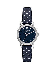 kate spade new york Tiny Metro Blue Leather Three Hand Watch