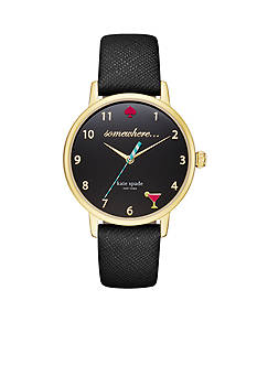 kate spade new york Metro 5 O'clock Somewhere Black Three-Hand Watch