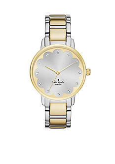 kate spade new york Gramercy Scalloped Two-Tone Bracelet Three-Hand Watch