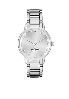 kate spade new york Gramercy Scallop Stainless Steel Three Hand Watch