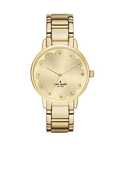 kate spade new york Gramercy Scalloped Gold-Tone Three-Hand Watch