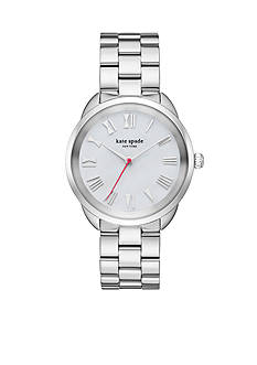 kate spade new york Crosstown Stainless Steel Bracelet Three-Hand Watch