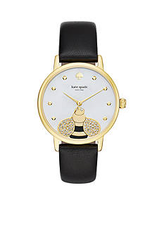kate spade new york Metro Novelty Bee Leather Three-Hand Watch