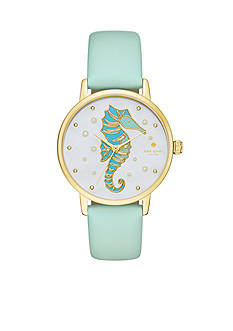 kate spade new york Metro Novelty Mint Green Three-Hand Watch
