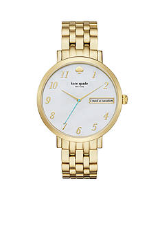 kate spade new york Monterey Gold-Tone Three-Hand Watch