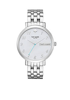 kate spade new york Women's Monterey Silver-Tone Bracelet Watch