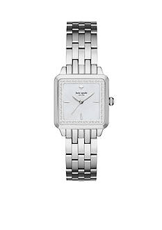 kate spade new york Women's Washington Square Silver-Tone Bracelet Watch