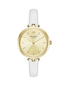 kate spade new york Holland Leather Three-Hand Watch