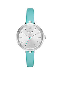 kate spade new york Women's Holland Turquoise Blue Leather Watch