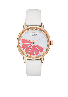 kate spade new york Women's Metro Grapefruit White Watch