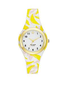 kate spade new york Women's Rumsey Banana Print Silicone Watch
