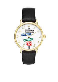 Kate Spade Women's Metro Novelty Black Watch